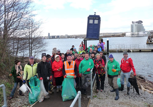 Cardiff Rivers Group Litter Pick – Dr Who Beach!