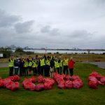 Volunteers turn up en-masse to clean Cardiff Pointe
